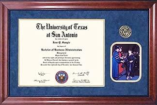 Wordyisms UT San Antonio (UTSA) Diploma Frame with Graduation Photo