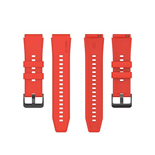 XUEXIU para Huawei GT2 Pro Band Silicone Strap para Huawei GT2 Pro Wheamband Sport para Huawei Watch GT 2 Pro 46mm Pulsera Pulsera 22 Mm (Color : Red, Size : For Huawei GT2 Pro)