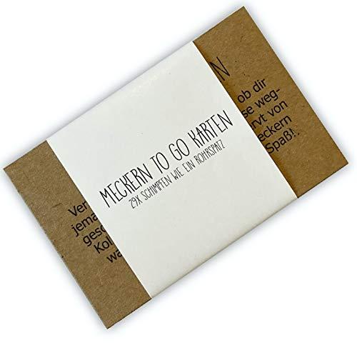 Meckern to go Karten, Denkzettel, Meckernkarten, Scherzartikel, Geschenk Kollege, Geschenk Kollegin, Geschenk Freunde, Wichtelgeschenk