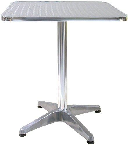 Savino Fiorenzo Tavolo Bar Bistrot Piede Centrale scocca in Alluminio 60x60 cm