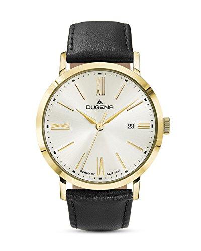 Dugena Trend Line Sirius Armbanduhr, Ø 37mm, gold-silber-schwarz
