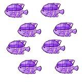 8 Pcs Filtro de Peces pequeños, Limpiador de Tanque humidificador El Filtro de Limpieza de Agua Reduce el Olor (Púrpura)