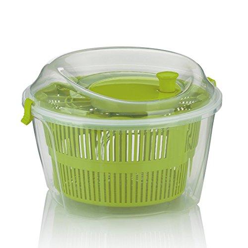 kela Salatschleuder Mailin PP-Kunststoff grün 17,5cm 24,5cmØ 4,4l, 24,5x24,5x17,5 cm