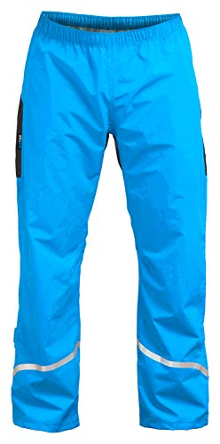 Rubberneck NXSVN Regenhose Reflektierend mit 3M Reflektor-Streifen, Wasserdicht & Atmungsaktiv Blau Größe XL