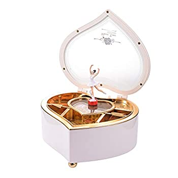 Heart Musical Jewelry Box Musical Jewelry Storage Box with Dancing Girl,Arrow Design Christmas Gift