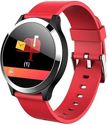 JIAJBG Reloj inteligente con pantalla circular Z8, resistente al agua, monitor de presión arterial, para hombres y mujeres, reloj deportivo inteligente con exquisito