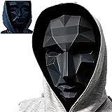 Mascarilla de juego de calamar 2021 TV Cosplay Máscara Halloween Party aterrador Masked Man Props, Jefe, Taille unique