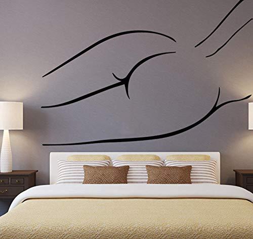 Zkpyy dames hoofddecoratie afneembare vinyl ondergoed dames muursticker woonkamer slaapkamer wanddecoratie aftrekplaatjes 43 cm x 60 cm