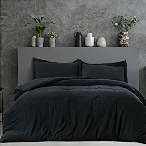 100% Microfiber for a luxurious, soft and plush experience yet fade resistant, the fabric has ultra soft touch close to washed cotton. This Twin size duvet cover set (1 duvet cover 68x90in, 1 pillowcase 20x26in) has a zipper closure and concealed cor...