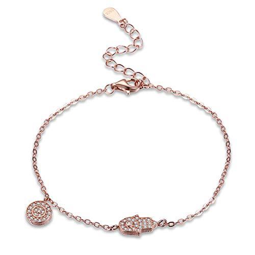 Bracelet En Argent Femme 925,Bracelet En Argent Femme 925,S925 Mode D'Argent Bracelet Fantaisie Smart Flux Polyvalent Simple Bracelet Romantique Tempérament Réglable Bracelet Bijoux Accessoires Vêt