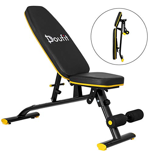 Adjustable Weight Bench, Doufit WB-01 Foldable Exercise Bench for Home Gym, Multi-Purpose Workout Incline Bench ( Capacity 308 Lbs)