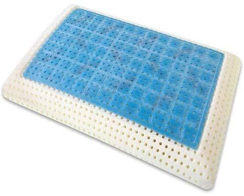 Almohada Memory Gel Modelo Saponetta con funda 100% algodón ortopédico cervical exterior