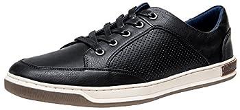 JOUSEN Men s Sneakers Classic Retro Casual Shoes for Men Breathable Business Dress Sneaker  A81Q07 Black 11