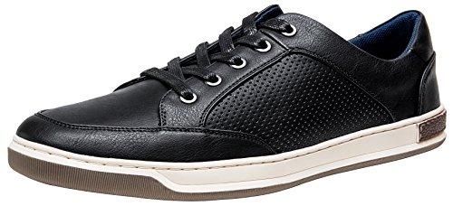 JOUSEN Men's Sneakers Classic Retro Casual Shoes for Men Breathable Business Dress Sneaker (A81Q07 Black 10.5)