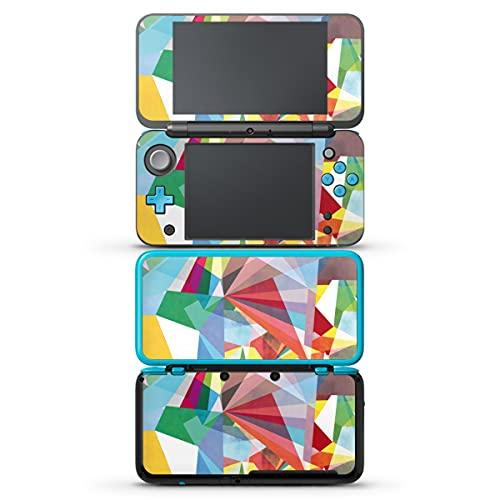 DeinDesign Autocollant Compatible avec Nintendo 2 DS XL Sticker Film Autocollant Arc-en-Ciel Cristal Triangles