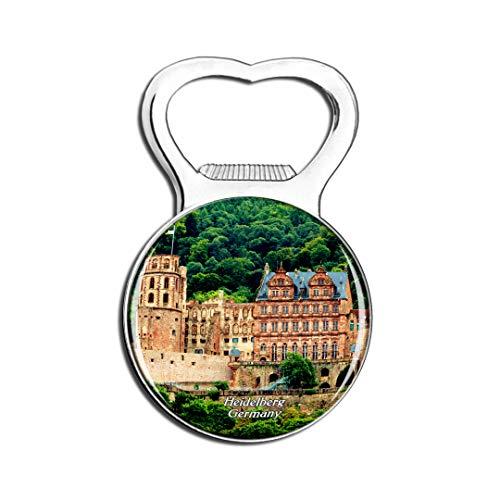 Weekino Deutschland Heidelberger Schloss Kühlschrankmagnet Bier Flaschenöffner Stadt Reise Souvenir Sammlung Starker Kühlschrankaufkleber