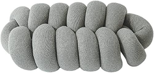 Cojines decorativos bonitos para cama, gris claro, 45x25x15 cm, cojín mullido, almohada decorativa, cojín cómodo para silla