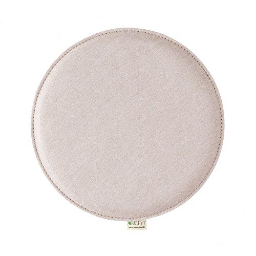 Metz Textil & Design Violan Sitzkissen rund - ø 33 cm, h 1,6 cm - Pebble