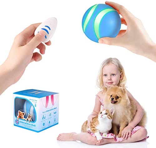 USB Rechargeable Smart Interactive Pet Toy Bounce Ball for Dog Cat Built in 1000mAh Battery product image