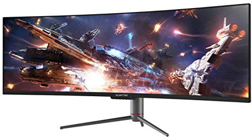 Sceptre Curved 49 inch (5120x1440) Dual QHD 32:9 Gaming Monitor up to 120Hz DisplayPort HDMI Build-in Speakers, Gunmetal Black 2021 (C505B-QSN168)
