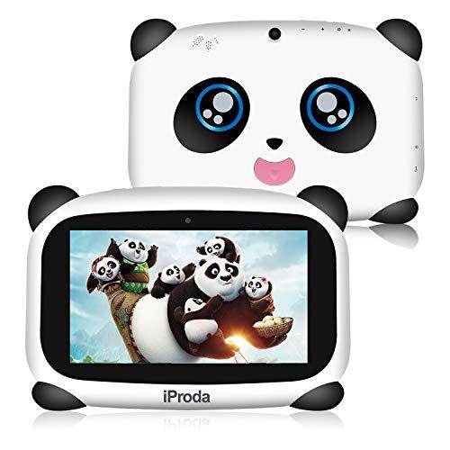 iProda Tablet para Niños 7 Pulgadas 4000MAH Android 9.0 Quad Core 2GB 16GB,Control Parental,Google Play preinstalado con Estuche a Prueba de niños