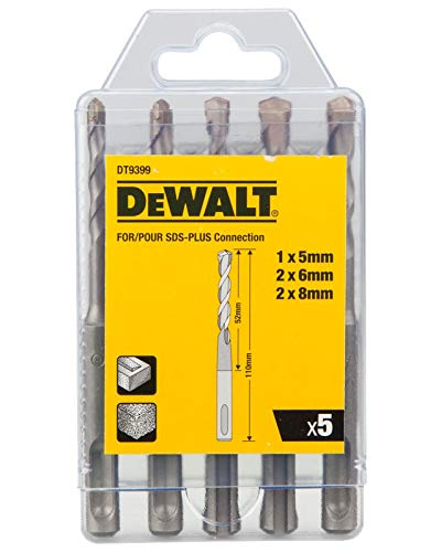 DeWALT DT9399-QZ Hammer Drill Bit Set 5 Pieces SDS-plus