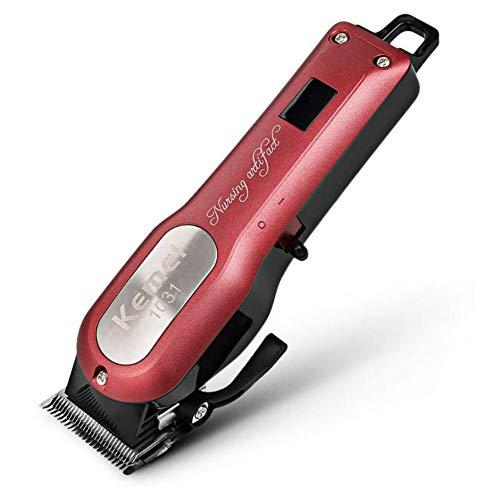 KLI Professionelle schnurlose Haarschneidemaschine Elektro-Haar-Bartschneider Leistungsstarke Haar-Rasiermaschine Haarschneider Barber