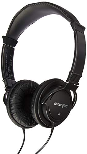 Kensington Products - Hi-fi Headphones, 40mm Drive, 9' Cord, Black - Sold as 1 EA - Hi-Fi Headphones feature powerful 40mm drivers to deliver a deep base and wider dynamic range for exceptional sound. The padded headband and plush sealed ear pads allow hours of comfortable use. Headphones include a 9' cord and gold-plated headphone plug.