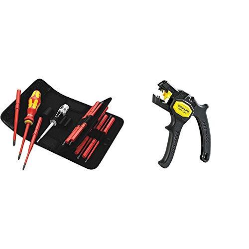 Wera Werkzeug-Set Kraftform Kompakt VDE 60 iS65 iS67 iS16, 16-teilig, 05003484001 & Jokari 20050 Abisolierzange Super 4 plus