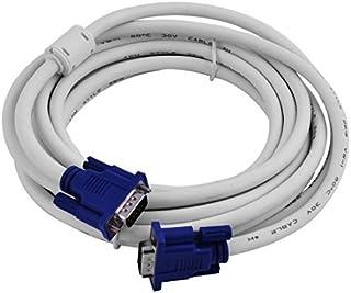eDealMax pl/ástico ordenador HD15 Macho a Macho Monitor de v/ídeo SVGA VGA Conectores de Cable 1.4M Negro