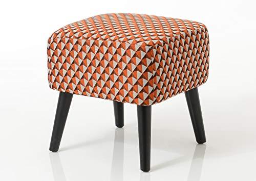 Amadeus Pouf vadim Orange, Toile, 40x40x40