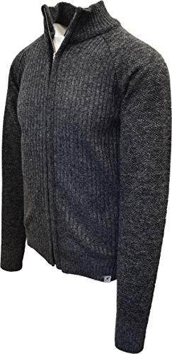 STACY ADAMS Men's Full Zippered Winter Sweaters (3XL, C-Black)