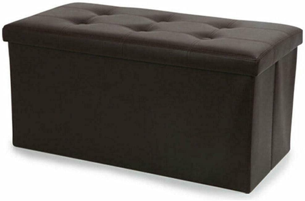 New Jacksonville Mall trend rank Faux Leather Storage Footstool Bench Footrest B Sofa Folding