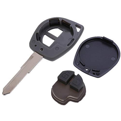 Cylficl. 1 carcasa de repuesto para llave de coche con 2 botones para Suzuki Grand Vitara Swift Liana.