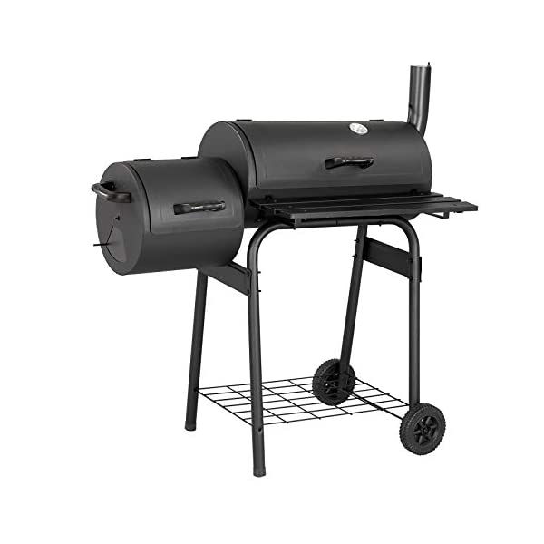 Texas Starter Smoker & BBQ Charcoal Barbecue Ideal for Home Garden Party BBQ 1