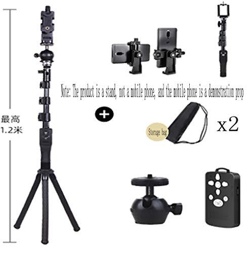 XIAO XIONG mobiele telefoon standaard acht klauw vis statief micro enkele camera desktop live handheld plank buiten slr microfoon draagbaar statief acht poten statief zwart-13
