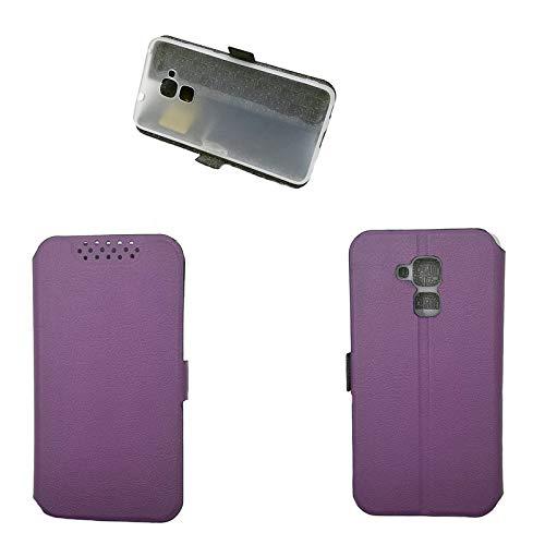 Hülle für Huawei GT3 Hülle Leder ,Hülle für Huawei GT3 NMO-L02/L03 NMO-L22/L23 NMO-L31 / Honor 5C NEM-L21 NEM-L51 NEM-TL00H NEM-UL10 NEM-AL10 / Honor 7 Lite Hülle Klapphülle Handytasche Hülle Purple