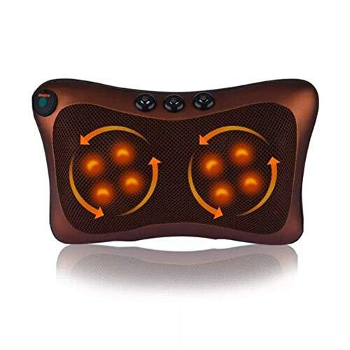 QXXNB Shiatsu Comfy elektrischeMassage Kissen tief kneten Massagekissen Rücken Schulter entspannen