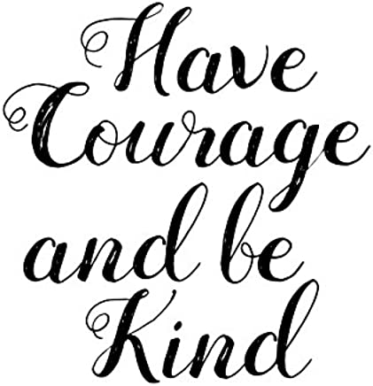 """Heartfelt Inspirations By Moana SS-HI-10020""""Have Courage and Be Kind"""" Paper Wall Prints"""