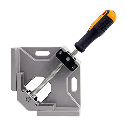 Meccion Rechtwinklige Klemme, strapazierfähig, 90 Grad, zweiachsige Schweißklemme, verstellbarer Schraubstock mit Aluminium-Legierung