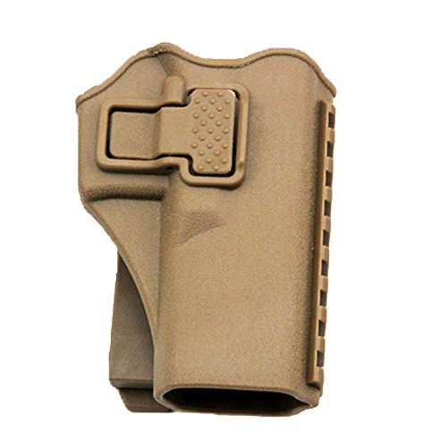 Tactical Right Hand Waist Gun Holster,MOLLE Vest Pistol Holster for Glock 17 19 22 23 31 (Tan, Vest)