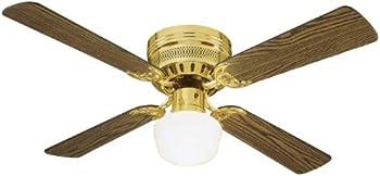 Design House Downrod Mount 4 Dark Blades Ceiling Fan With 45 Watts Light