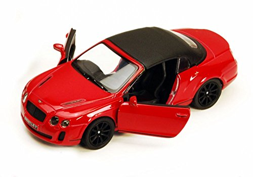 KiNSMART 2010 Bentley Continental Supersports Convertible, Red 5353 D 1/38 Scale Diecast Model Toy Car