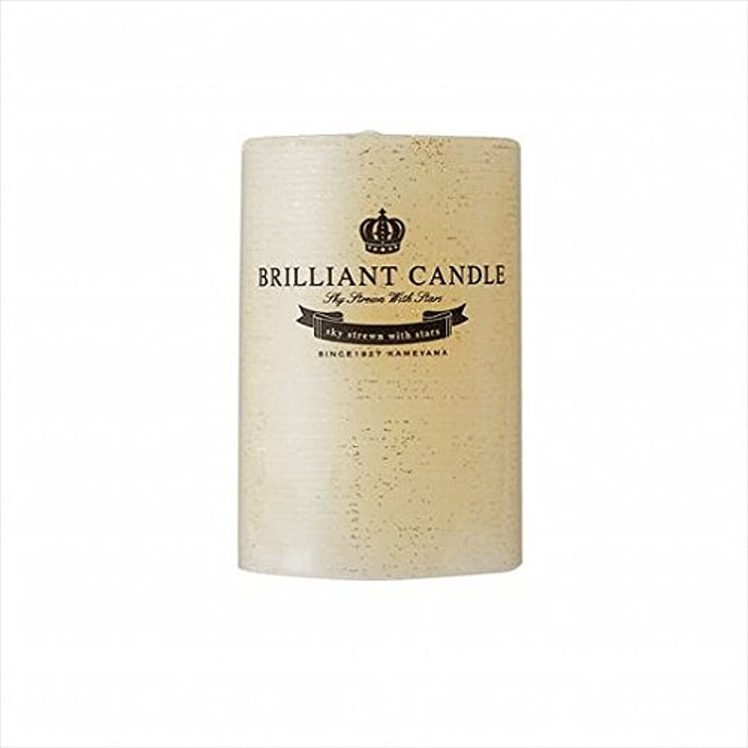 置くためにパック行う外出kameyama candle(カメヤマキャンドル) ブリリアントピラー2×3 「 トパーズ 」(A9292100TP)