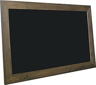 billyBoards 42X48 chalkboard. Brown barnwood frame finish. Restaurant menu style. No chalk tray. Black porcelain writing panel. 2.5