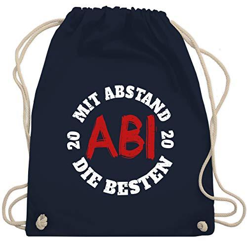 Shirtracer Abi & Abschluss - Abi - Mit Abstand die Besten 2020 - weiß/rot - Unisize - Navy Blau - WM110_Stoffbeutel - WM110 - Turnbeutel und Stoffbeutel aus Baumwolle