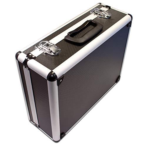 PeakTech 7300 – Universal Koffer für Messgeräte, Robuster Tragekoffer, Werkzeug Aufbewahrung, Würfelschaum Platten, Schaumstoff Polsterung, abschließbar, Staubschutz, M - 320 x 250 x 150 mm