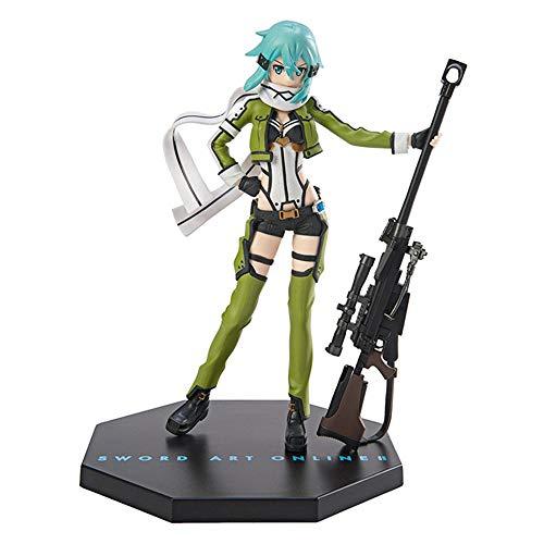 GUANGHHAO Sword Art Online GGO Sinon Anime Figur 20cm-Figur Dekoration Ornamente Sammlerstücke Spielzeug Animationen Charakter Modell