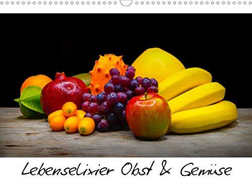 Lebenselixier Obst und Gemüse (Wandkalender 2021 DIN A3 quer)