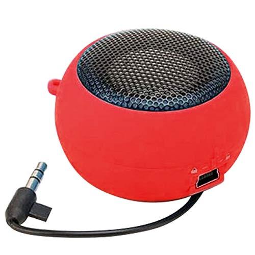Mini wekker luidspreker luidspreker muziekwekker bekabelde luidsprekers voor computertelefoons, Rood